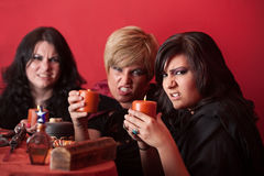 Witches With Candles Stock Image