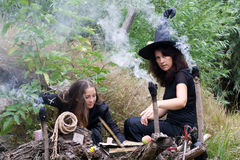 Witches conjure Royalty Free Stock Photography