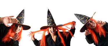 Witches for corners Stock Images