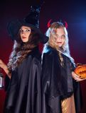Witches in the dark Stock Photos