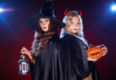 Witches in the dark Royalty Free Stock Photos