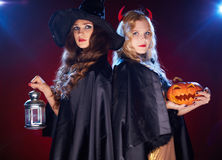 Witches in the dark Stock Image