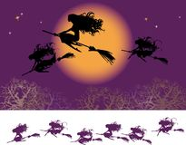 Witches fly Stock Image