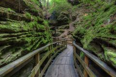 Witches Gulch is a hidden Attraction in Wisconsin Dells and can royalty free stock photo