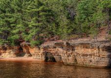 Witches Gulch is a hidden Attraction in Wisconsin Dells and can. Only be reached by Boat Royalty Free Stock Images