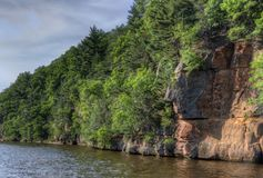Witches Gulch is a hidden Attraction in Wisconsin Dells and can. Only be reached by Boat royalty free stock photos