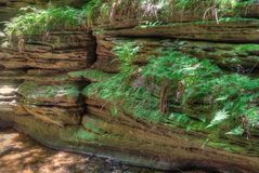 Witches Gulch is a hidden Attraction in Wisconsin Dells and can. Only be reached by Boat stock images