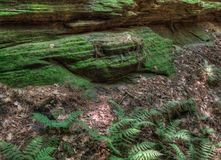 Witches Gulch is a hidden Attraction in Wisconsin Dells and can. Only be reached by Boat stock image