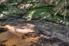 Witches Gulch is a hidden Attraction in Wisconsin Dells and can. Only be reached by Boat royalty free stock photography