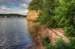 Witches Gulch is a hidden Attraction in Wisconsin Dells and can. Only be reached by Boat stock photography