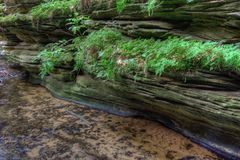 Witches Gulch is a hidden Attraction in Wisconsin Dells and can. Only be reached by Boat stock photo