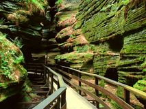Witches Gulch in Wisconsin Dells. Witches Gulch is a beautiful slot canyon in the Wisconsin Dells Stock Image