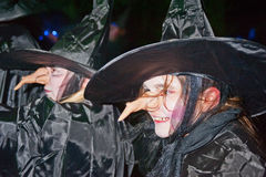 Witches  at Halloween. Witches at Ness Islands Inverness in a Halloween event organized by Highland Council on 26th and 27th October 2012 Stock Photo