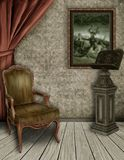 The Witches Reading Room. A reading room in a witches house, created digitally Stock Photo