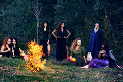 Witches on the Sabbath Stock Image