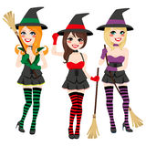 Witches Set Royalty Free Stock Photos