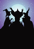 Witches silhouette Stock Photos