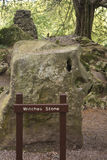 Witches Stone at the Rock Close, Blarney Castle and Grounds Royalty Free Stock Photo
