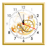 Wite clock Royalty Free Stock Image