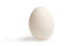 Wite egg with clipping path Royalty Free Stock Images