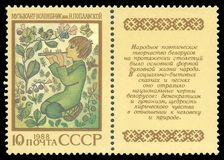 Wite-Russisch eposmusicus Magician stock foto's