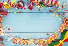 Świąteczna przyjęcie granica, rama lub Zdjęcie Royalty Free