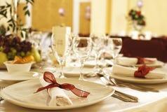 świąteczny przygotowania stół Obrazy Royalty Free