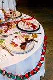 świąteczny stół Zdjęcia Stock