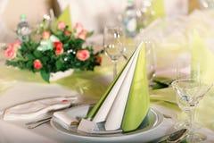 Świąteczny stołowy położenie Fotografia Royalty Free