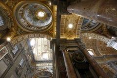 Świętego Peter katedra, Vatican Obrazy Royalty Free