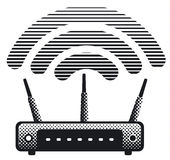 Witeless router and modem Royalty Free Stock Photo