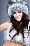 Witer fashion girl Stock Photos