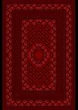 Withdel tappetoun rosso del modello dalle rose Fotografia Stock Libera da Diritti