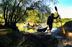 Free With The Kayak In Danube Delta, Romania Royalty Free Stock Photo - 91920885