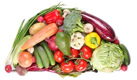 Free With Vegetables In A Semicircle Stock Photos - 14757033