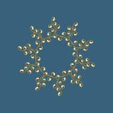 Withbranch do ornamento no estilo da garatuja Imagem de Stock Royalty Free