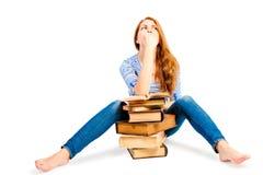 Withbunch de los libros del estudiante de las emociones Fotos de archivo