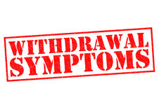 WITHDRAWAL SYMPTOMS vector illustration