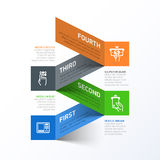 Withdrawing cash from ATM abstract infographics te. Abstract infographics template vector illustration Stock Photography