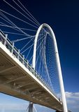 The withe bridge. The bridge on the motorway on a blue sky Stock Photography