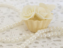 Withe cupcake Royalty Free Stock Photography