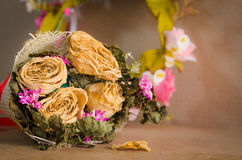 The wither bouquet in  still life style Stock Photo