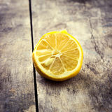 Withered Half Lemon Stock Photo