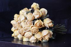 Withered roses. Bouquet of withered roses royalty free stock images
