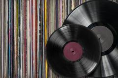 Withf de disque vinyle une collection d'albums photo libre de droits
