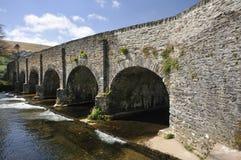 Withypool Bridge. Over the River Barle, Exmoor Stock Photos