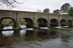 Withypool Bridge and River Barle.  Royalty Free Stock Image