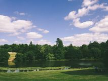 Witley Court. Beautiful Lake and trees Royalty Free Stock Photography