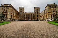 Witley Court garden. Ruin of Witley Court in Worcestershire Stock Photos