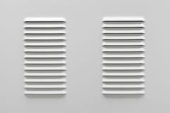 Witmetaal industrieel paneel met ventilatie Stock Foto